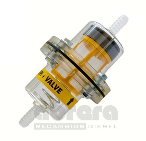 ARD-0085 PREFILTRO MAGNETICO DE GASOIL PARA TUBO 8 MM