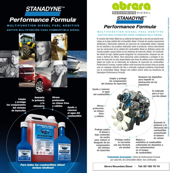 43083 Stanadyne performance formula aditivo gasoil