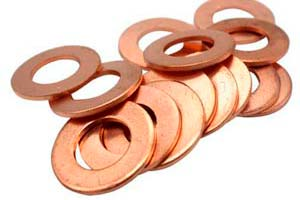 Arandelas de cobre